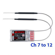JR RG613BX-B 6ch Ch7-12 Receiver with XBus