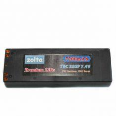Lipo, Zolta 75C 2S 7200mAh Hard Case (Bullet Case)