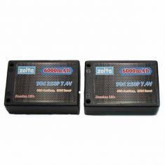 Lipo, Zolta 90C 2S 6000mAh Hard Case (Saddle Pack)