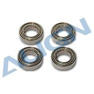 Bearing, d8xD14x4mm (MR148ZZ) x4