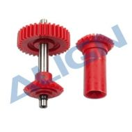 Heli Part, Trex550/600 M0.8 34T Torque Tube Front Drive Gear Set Red