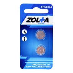ZOLTA Alkaline A76/LR44 1.5V (2 Per Pack)