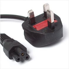 Power Cord, UK Plug to C5