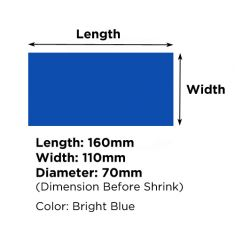 Heat Shrink Tube Diameter 70mm - 110mmX160mm