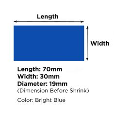 Heat Shrink Tube Diameter 19mm - 30mmX70mm