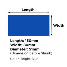 Heat Shrink Tube Diameter 51mm - 80mmX150mm