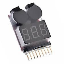 Low Voltage Alarm & Battery Tester 1S-8S