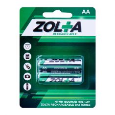 ZOLTA Rechargeable Ni-MH AA 1.2V 1800mAh (2 Per Pack)