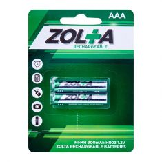 ZOLTA Rechargeable Ni-MH AAA 1.2V 900mAh (2 Per Pack)