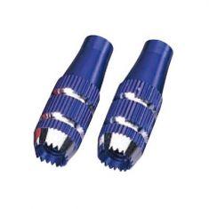 JR Gimbal Stick Ends, 24mm (Med) Blue