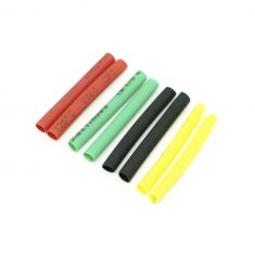 Heat Shrink Tube Dia 6mm Red Black Green Yellow 40mm X2