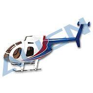 450 Scale Fuselage 500E White/Red/Blue