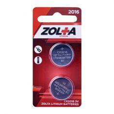 ZOLTA Lithium CR2016 3V (2 Per Pack)