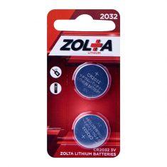 ZOLTA Lithium CR2032 3V (2 Per Pack)